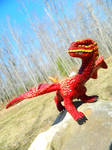 Dragon on a Rock by MsMergus