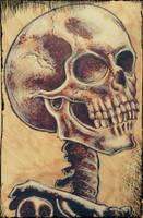 Comic style skeleton by LaMantraMori