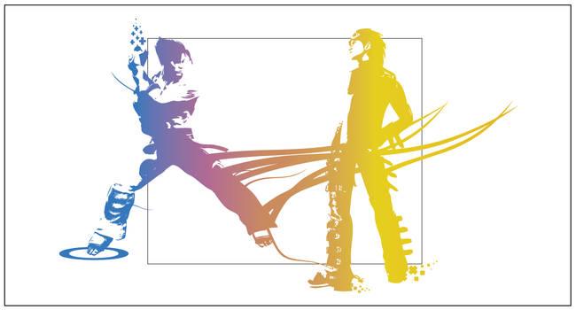 Hwoarang vs Jin ffx style by Reppe