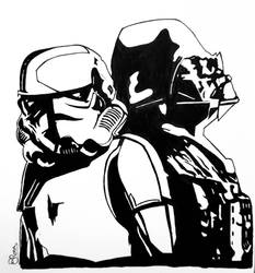 Darth Vader and Stormtrooper - STAR WARS by BRosa84