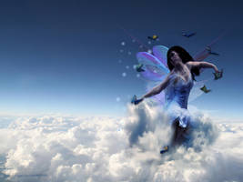 flying with butterflies by g0thicAngeL
