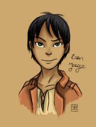 Eren Jaeger by BoogieSnail