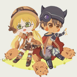 Made in Abyss - Riko and Reg by remiruu