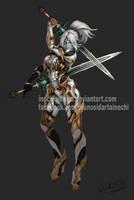 Lineage 2 - Dark Elf - Commission by inochisidarta