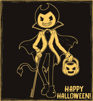 Happy Halloween Bendy and the Ink Machine! by FionnaLover16