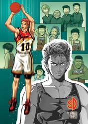 Future and past of Hanamichi Sakuragi by ilpuci