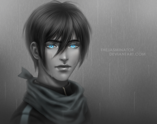 Rainy Yato by TheJasminator