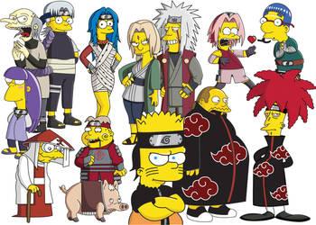 SimpsonsNaruto by darks