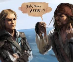 Edward Kenway / Jack Sparrow study by ert0412