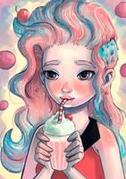 Yummy milkshake by PixelationGirl