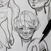 Faces sketch by PixelationGirl