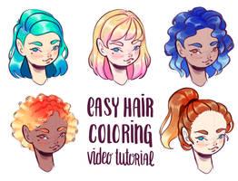 Hair coloring tutorial by PixelationGirl