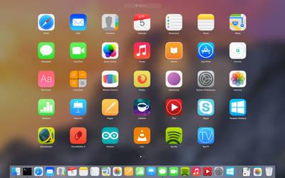 Mac OS X Yosemite iOS 7 Style by PowerOfG5