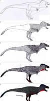 Step by step tutorial: TYRANNOSAURUS by Dennonyx