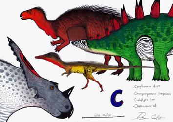 The Dinosaur Alphabet: C by Dennonyx