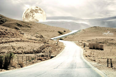 Road to the moon by YASERGRAFIX
