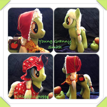 FOR SALE-young Granny Smith plush by Littlestplushoppe
