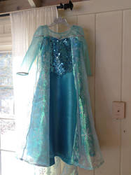 Elsa dress finished by Littlestplushoppe