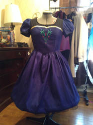 Anna inspired dress without capelet by Littlestplushoppe