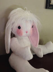 WIP bunny doll by Littlestplushoppe