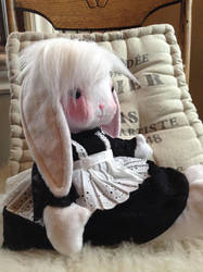 Porcelaine-bunny doll by Littlestplushoppe