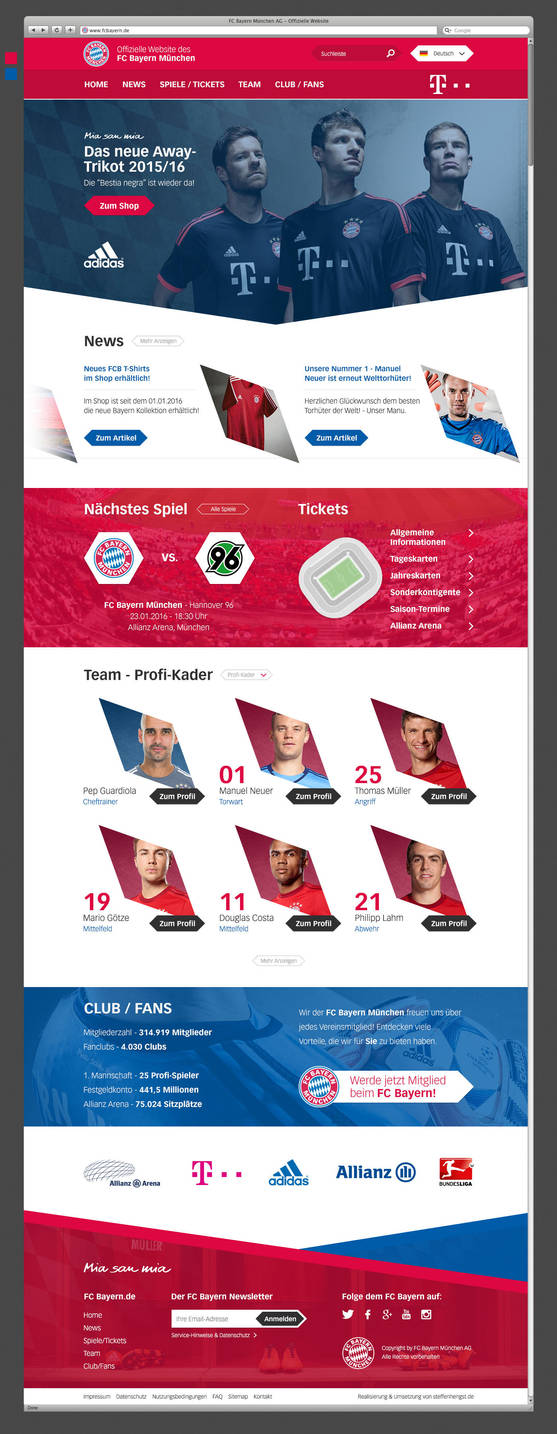 Bayern Munich - Redesign by h1xndesign