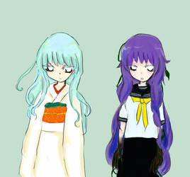 Hana and Sumire by kotohogi