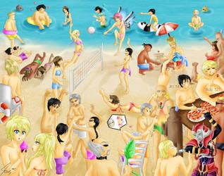 Tekken Beach Vacation by Katkat-Tan