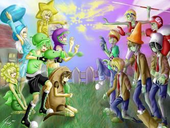plants vs zombies anime by Katkat-Tan