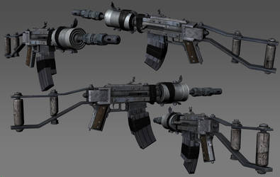 Homemade Assault Rifle by the-araon