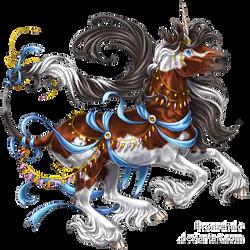 Ribbony unicorn by BronzeHalo