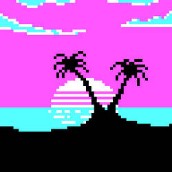 CGA palette, 80s Sunset by PowLow-Paolo