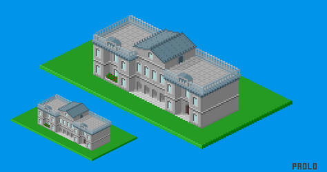 Isometric Irish state house by PowLow-Paolo