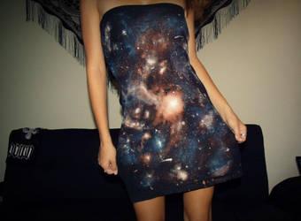 Galaxy Dress by IntracranialColors