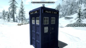 Working TARDIS in skyrim by yoshi12345786
