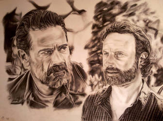 Rick and Negan by mchofmann