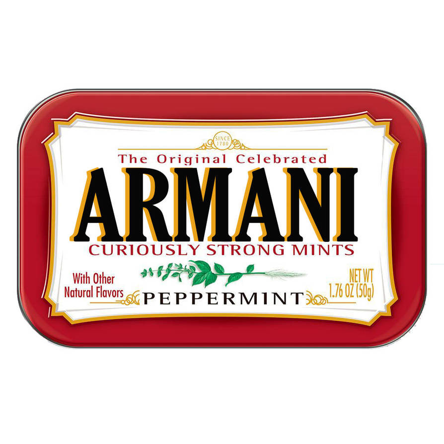 Sweet Junkie Fashion Logos: Armani Altoids by trentsxwife
