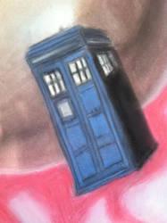 The Doctor's TARDIS- pastel painting by xXGummyKiraXx