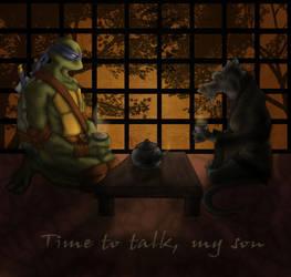 Time to talk, my son by 1234LERT7Nan2