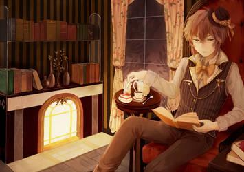 By the Fireplace by Dayrili