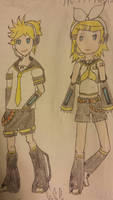 Vocaloid Series - 2 - Rin and Len Kagamine by Some-Genius