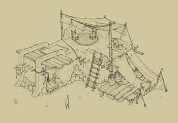 Desert farm house StingingWinds by peetcooper