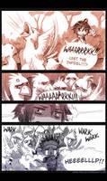 Commission: Reize vs Chocobos by KodamaCreative
