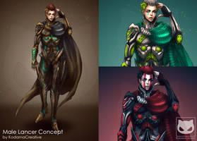 Commission Custom Concept Design : Male Lancer by KodamaCreative