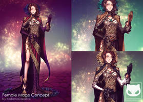 Commission Custom Concept Design : Female Mage by KodamaCreative