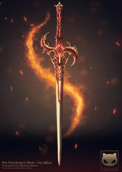Commission: The Pendragon Wars - Excalibur by KodamaCreative