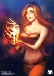 Commission: Vesta's Fire by KodamaCreative