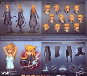 Commission: Wolf Reference Sheet by KodamaCreative