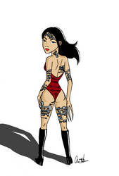 Lady Deathstrike Recolored by CassLBrown