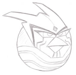 Red Lantern Razer as an Angry Bird by CassLBrown